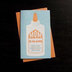 tip-top mother's day letterpress card