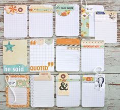 Handmade Project Life Journaling Cards using October Afternoon....