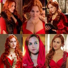 Red hair, red dress , red mind like flood- by Hurrem sultan