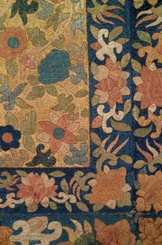 Chinese Embroidery Hanging, Late 17th Century (detail)