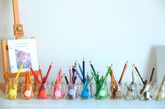 Montessori inspiriertes Kinderzimmer, Montessori für zu Hause, Kunstmaterialien