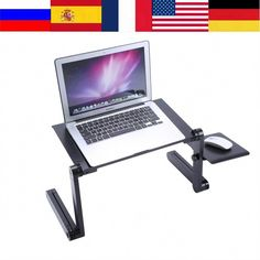 CARBS Laptop Stand Height//Angle Adjustable for Desk Ventilation and Cooling Silicone Pad Compatible with 11-15.6-inch Notebooks Silver//Gray
