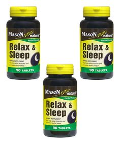 Look what I found on #zulily! 90-Ct. Relax and Sleep Tablets - Set of Three by Mason Natural #zulilyfinds