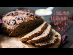 Nicole Gaffney aka Coley teaches you how to make No-Knead Cinnamon Raisin Walnut Bread! If you've never tried the no-knead bread method before, you're in for. Wholemeal Bread Recipe, Cinnamon Raisin Bread, No Knead Bread, Vegan Bread, Fresh Bread, Cooking Recipes, Bread Recipes, Bread Baking, Bread Board