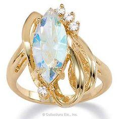 Aurora Borealis Elegant Crystal Ring