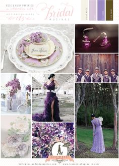 Lilac, Lavendar and Gold Wedding Inspiration......purple wedding for @Lindsey Hess