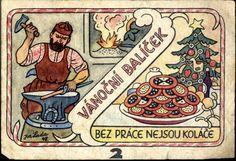 European Countries, Czech Republic, The Past, Graphics, Retro, Illustration, Christmas, Poster, Art