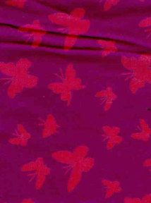 Bamboo Yarn Woven Fabric Butterfly Print  Very by EcoFabricStore, $15.99