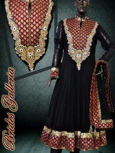 Black Anarkali Suit black kalidar punjabi suit $250