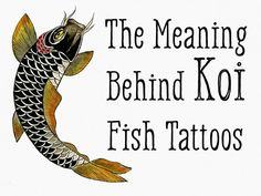 The meaning behind koi fish tattoos of different colors and orientations.
