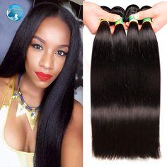 7A grade braziliaanse virgin haar straight weven 100 natuurlijke zwart menselijk haar snelle verzending zachte braziliaanse steil haar 4 bundels