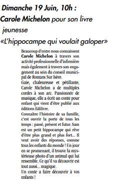 article_L'Impartial_Carole Michelon_Émilie Méjean_2016_Edilivre