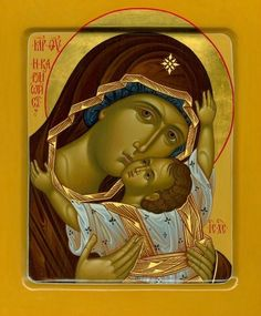 Religious Images, Religious Icons, Religious Art, Russian Icons, Russian Art, Divine Mother, Mother Mary, Images Of Mary, Sign Of The Cross