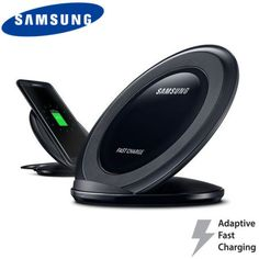 Official Samsung Wireless Adaptive Fast Charging Stand - Black - Charge your Samsung Galaxy S7, S7 Edge, Note 5 or S6 Edge+ quickly with the official wireless fast charge stand in black. Allowing you to charge up to 1.4x faster than traditional wireless chargers, this really is the perfect accessory for your new phone.