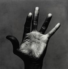The left palm of Miles Davis, New York, 1986 by Irving Penn #musician #trumpet #jazz #legend