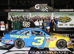 Nice to see the #3 back in victory circle with an Earnhardt driving for the win.  NASCAR Nationwide Series Subway Jalapeno 250 at Daytona International Speedway on July 2, 2010 in Daytona Beach, Florida winner! w
