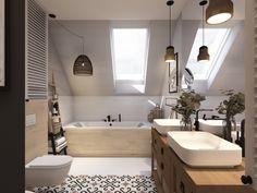Loft Bathroom, Laundry In Bathroom, Bathroom Interior, Interior Design Living Room, Surf House, Attic Rooms, Luxury Bath, Scandinavian Home, Amazing Bathrooms