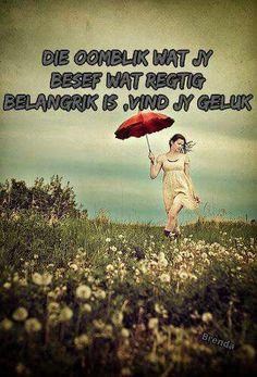 Geluk Afrikaans Quotes, Wise Words, Sayings, Humor, Dutch, Wisdom, Pottery, Board, Garden