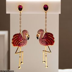Flamingo Swarovski earrings SS2013