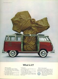 A 1963 ad that flat-out challenged you to not read the copy. | All The Great Mad Men Era Volkswagen Ads