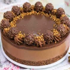 Tarta de Ferrero Rocher y Nutella sin horno #tarta #sinhorno #ferrerorocher