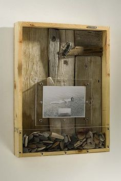 ⌼ Artistic Assemblages ⌼ Mixed Media & Collage Art - On the Beach, Thomas Mann, Storm Cycle series shadow box Art Sculpture, Sculptures, Mandala Design, Beach Shadow Boxes, Collage Art Mixed Media, Found Object Art, Box Art, Art Boxes, Assemblage Art