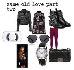 """""""same old love part two"""" by docmartenslovah ❤ liked on Polyvore featuring MANGO, Great Plains, Chanel, The Row, Burberry and MAC Cosmetics"""