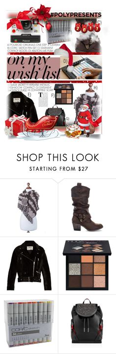 """""""#PolyPresents: Wish List"""" by moodboardsbyluna ❤ liked on Polyvore featuring Polaroid, NOVICA, Rocket Dog, Acne Studios, Huda Beauty, Christian Louboutin, contestentry and polyPresents"""