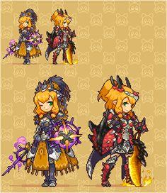 """シロス on Twitter: """"紫毒姫ネコ嬢追加!MHBにかかれてあった「並べると姫を守る女騎士」、というコンセプトがかっこよすぎたので並べてみたかった! https://t.co/5Y4vR08Xqg"""""""