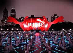 Puma Corporate Event Set-Up | #eventprofs www.MonasEventDosAndDonts.com/blog | Corporate Event Planning & Blog
