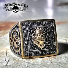 Mythical 'Nemean Lion' Ring (628) – SkullJewelry.com - American Owned & Operated | 1-866-45-SKULL | Free Shipping | Same Day Shipping