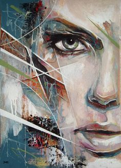 Half face half abstract   by Danny O'Connor