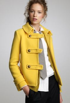 J.Crew - love yellow. I know I already have yellow jacketS (yes plural)... but you can never have too many short jackets/coats.