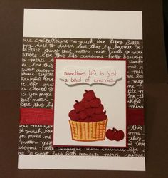 Basket Full of Cherries by zipperc98 - Cards and Paper Crafts at Splitcoaststampers