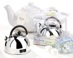 "Baby Shower Favor - ""It's About Time - Baby is Brewing"" Teapot Timer"