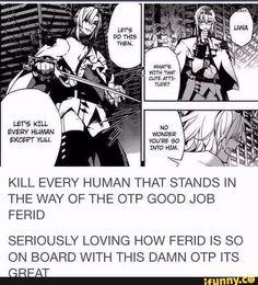 Owari no Seraph   Ferid Bathory   Funny   He ships MikaxYuu   Manga