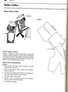 Sailor collar pattern design instructions
