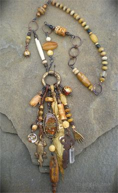 Healing Amulet Necklace by maggiezees on Etsy