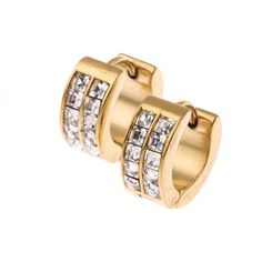 One Order Includes: 1 Pair Yellow Made of Quality Hypoallergenic Stainless Steel & Cubic Zirconia, Lead and Nickel Free, Solid and Durable. Measures x x Huggie Earrings,Fit to Both Men and Women. Fashion Earrings, Fashion Jewelry, Men's Jewelry, Tiny Stud Earrings, Hoop Earrings, Fashion Watches, Jewelry Watches, Bangles, Sparkles
