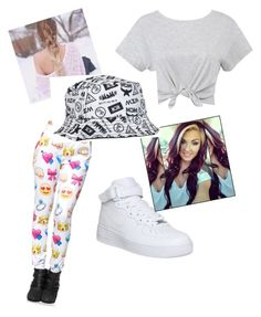 White Sweg by jordanfashion14 on Polyvore featuring polyvore, fashion, style and NIKE