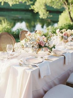 La Tavola Fine Linen Rental: Topaz Parchment with Aurora White Table Runner and Velvet Oatmeal Napkins | Photography: Ashley Rae Photography, Design & Florals: Janna Brown Design Co, Venue: Mint Springs Farm, Paper Goods: Ink & Press Co, Rentals: Liberty Party Rentals