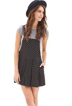 Polka Dot Overall Dress #F21StatementPiece MINE!!!!!!!!!!!!!