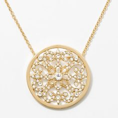 """MY NUMBER ONE SELLER JUST WENT GOLD!!!   WHO LOVES IT!?!?   Crystal set in an intricate filigree pattern; gold plating; 15"""" to 18""""."""