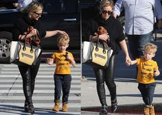 Hilary Duff out with her son Luca Comrie in Beverly Hills, Los Angeles on January 8, 2016