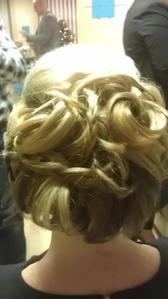 Structured updo, plaits, party hair by Sandra Jones #ghd #curls #bride #bridal #wedding #prom #long #hair #structured #neat #updo #hairup #plaits #braids