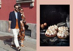 Street Style shot by The Locals // Cherry Meringue Tartlets at What Katie Ate What Katie Ate, Meringue, The Locals, Cherry, Street Style, Couples, Eat, Food, Fashion