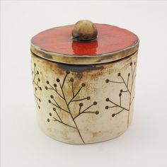 ceramic box with plants by solokolektyw on Etsy, zł110.00