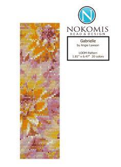 Gabrielle - LOOM Stitch Pattern Download by NokomisBeadPatterns on Etsy dahlia flower loom