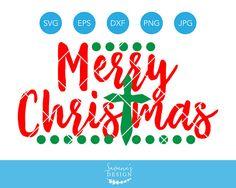 Merry Christmas Cross SVG, Merry Christmas SVG, Christmas SVG, Christmas Cut File, Christmas Cutting File, Christmas Dxf, Christmas Clipart