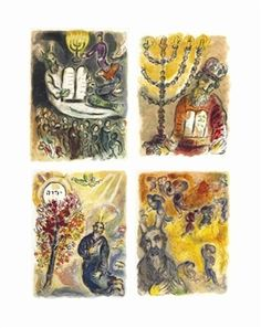 24 works: The Story of Exodus, Léon Amiel, Paris and New York By Marc Chagall ,1966